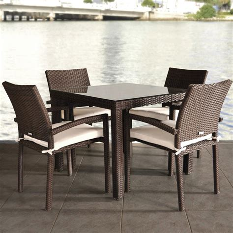 wicker kitchen furniture wicker dining table and chairs marceladick com