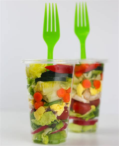 portable kitchen island salad in a cup a great portable lunch aloha dreams