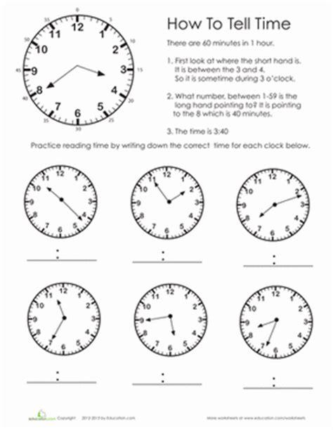 practice test telling time worksheet educationcom