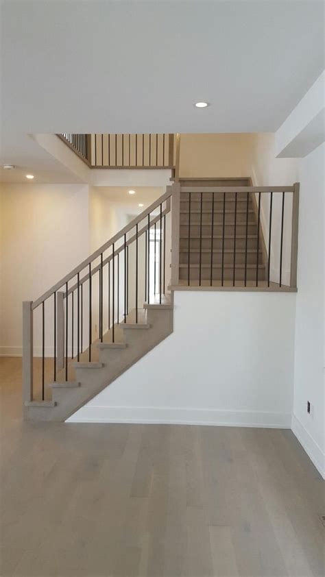 white oak stair constructed  closed risers closed