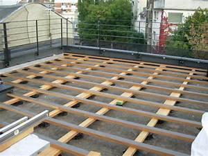 Terrasse En Caillebotis : terrasse composite sur plot beton 8 caillebotis en teck ~ Premium-room.com Idées de Décoration