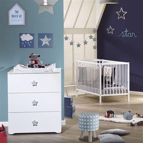 chambre etoile chambre bébé duo basic lit à barreaux 60x120cm blanc