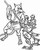 Coloring Ninja Turtles Teenage Mutant Splinter Pages sketch template