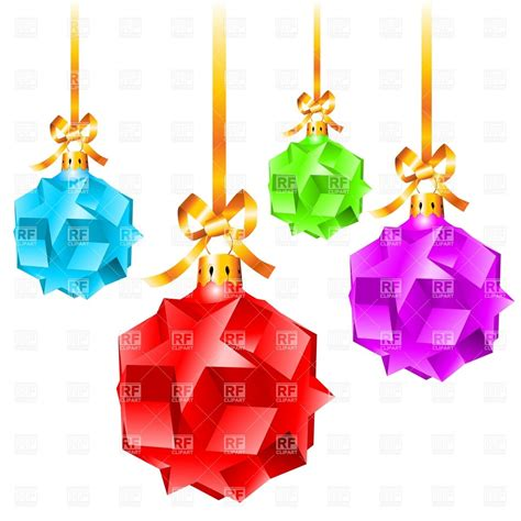 christmas decorations made of stars vector clipart image
