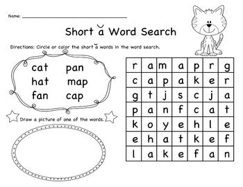 short vowel word searches  jessica lee teachers pay
