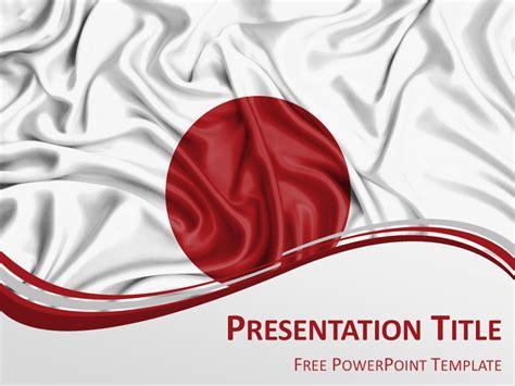 japan flag powerpoint template presentationgocom