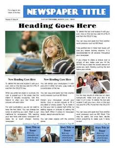 Front Page Newspaper Templates Free