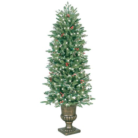 shop ge 5 ft pre lit pine artificial christmas tree with