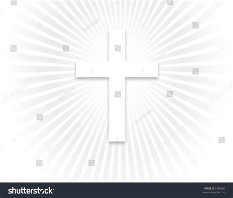 White Cross Background White Cross Background Smaller Cross Stock Illustration