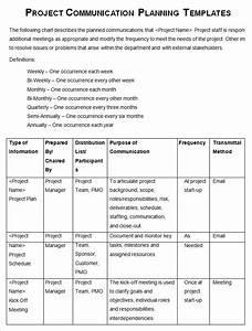 project management communication plan template 7 free With communication policy template