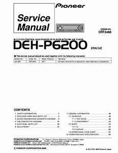 Pioneer Deh X3910bt Wiring Diagram