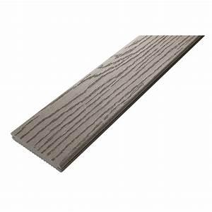 Terrasse Lame Composite : lame terrasse composite fiberon classic gris clipper 3 05 m ~ Edinachiropracticcenter.com Idées de Décoration