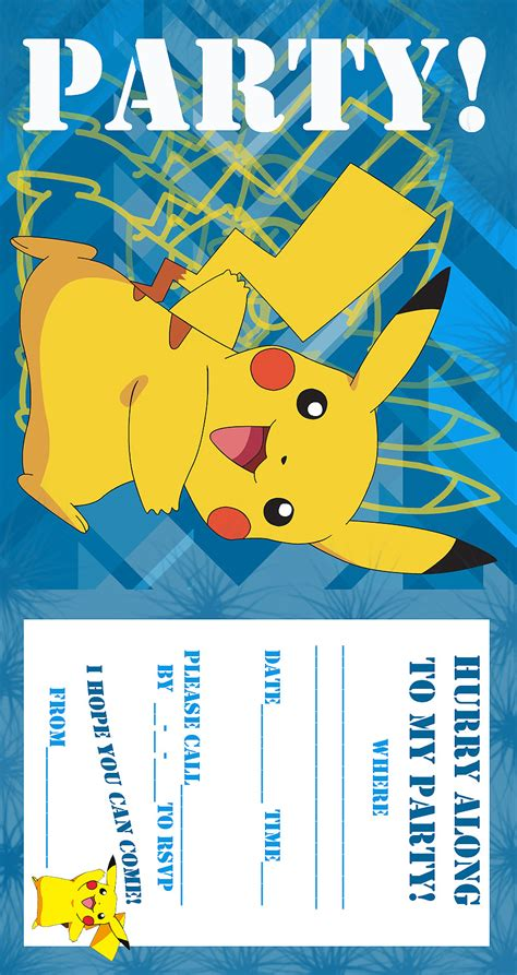 pokemon invitation birthday invitation free and printable