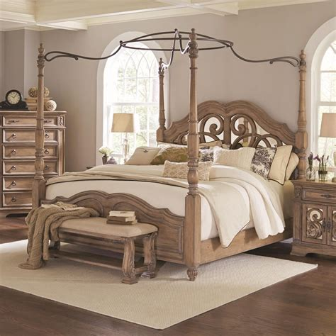 canopy king bed coaster ilana california king canopy bed with mirror back