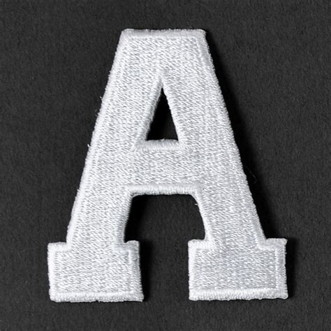 2 quot white alphabet letter iron on patch applique joyce 2 white alphabet letter iron on patch joyce trimming 92330