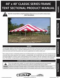 40 X 40 Frame Tent Installation Instructions