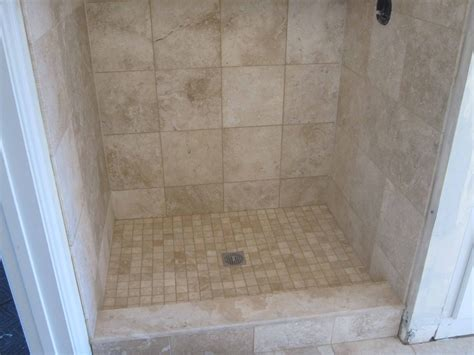 mosaic tile for shower floor travertine tile bathroom with heated floor