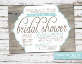 rustic wedding shower invitations country rustic theme bridal shower invitation by meghilys
