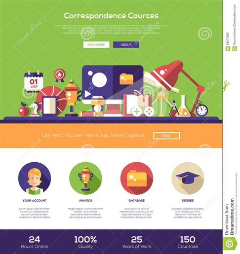 Elearning Website Header Banner With Webdesign Elements Stock Vector  Illustration Of Info