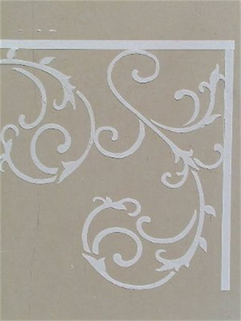 raised plaster wrought iron stencil