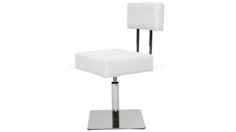 fauteuil de bureau pied fixe chaise au design unique avec pied chromé caymany