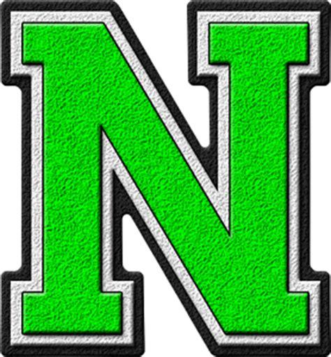 11 letter n on vimeo presentation alphabets green varsity letter n 69434