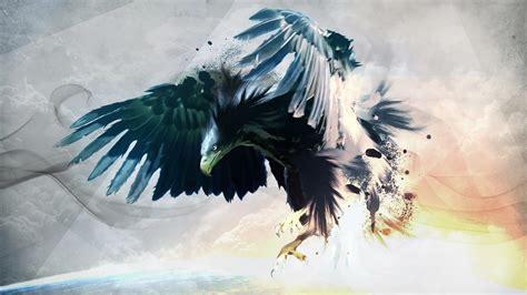 eagle birds artwork paint splatter wallpapers hd desktop
