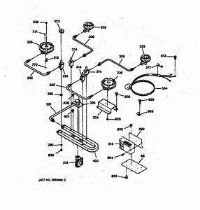 Burner Parts Diagram  U0026 Parts List For Model Jgp631er3wg Ge