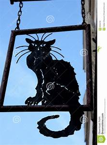 Black Cat Sign Royalty Free Stock Photos - Image: 6930218