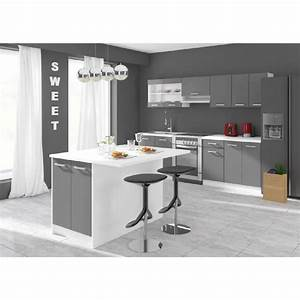 Plan De Travail Ilot : ilot cuisine achat vente ilot cuisine pas cher cdiscount ~ Premium-room.com Idées de Décoration