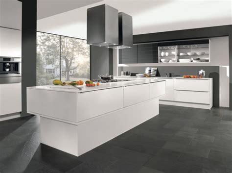 cuisine moderne blanc laqué cuisine design grise blanche cuisine gris
