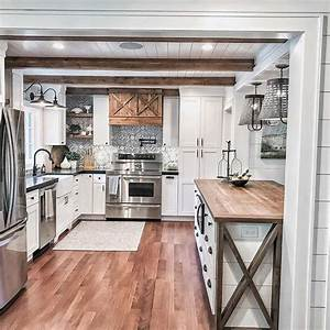 25, Awesome, Rustic, Kitchen, Island, Ideas, To, Try, This, 2020