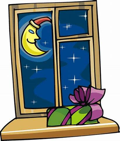 Window Night Clip Clipart Looking Christmas Sky