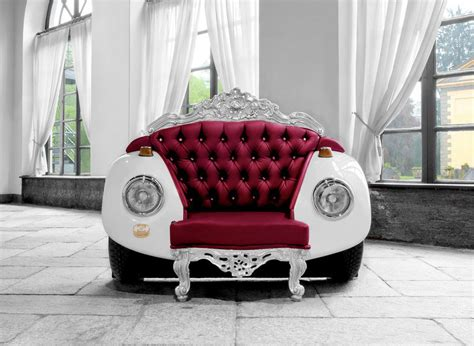 Baroque Style Beetle Armchair With Swarovski Crystals