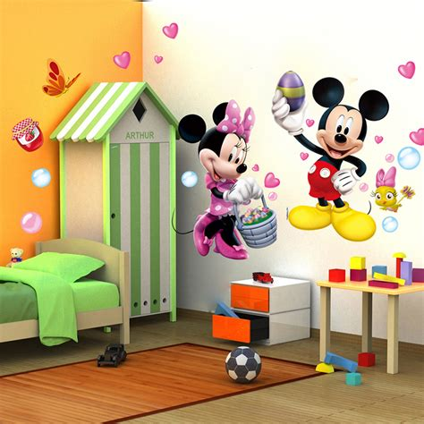 Minnie Mouse Bedroom Decor Canada by Mickey Minnie Mouse Wall Sticker Vinyl Decals