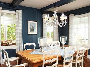 Blue, Country, Style, Dining, Room