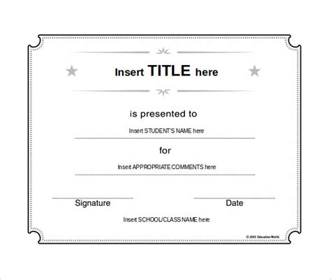 school certificate template   documents