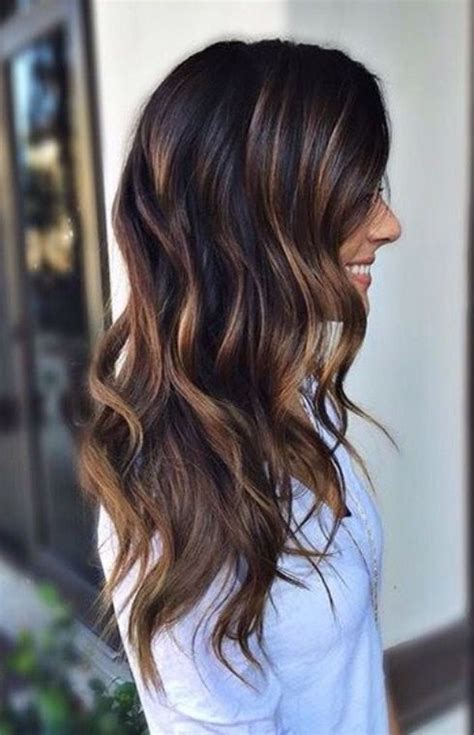 subtle hair color ideas  brunettes brunettes color