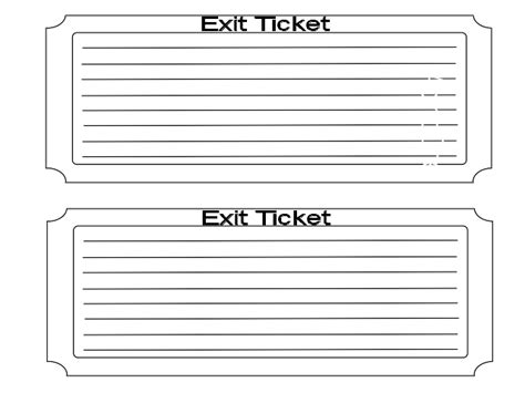 exit slip template exit ticket template cyberuse