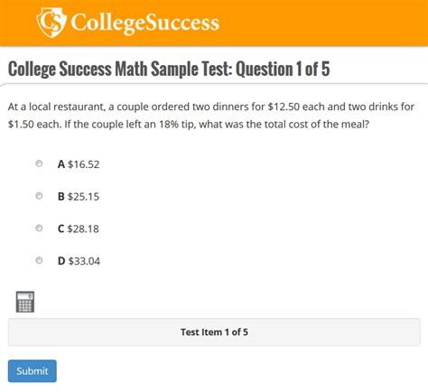 Math - PERT - Postsecondary Education Readiness Test