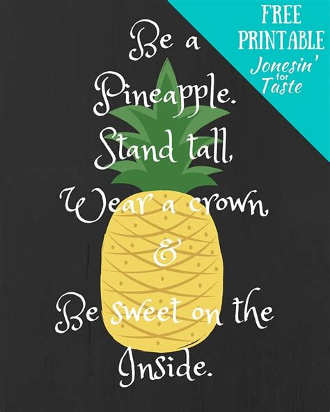 be a be a pineapple free printable 12 versions home and
