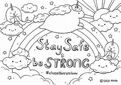 Rainbow Colouring Pages Sheet Coloring Adults Printable