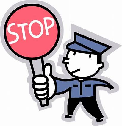 Guard Security Cartoon Crossing Svg Stop Clipart
