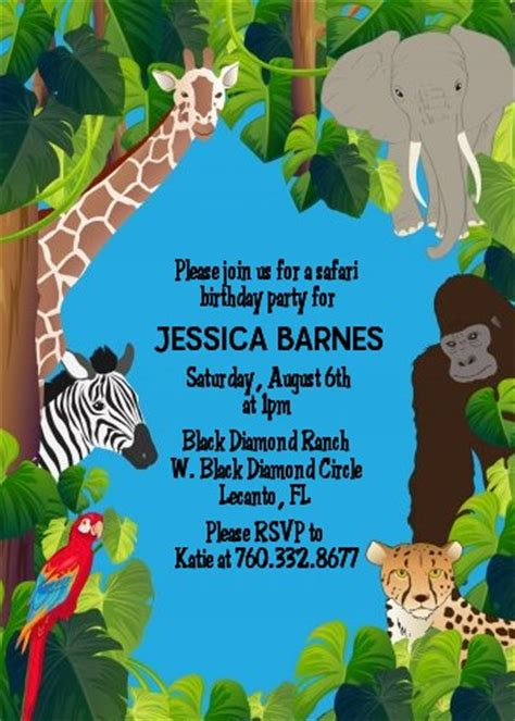 King Of The Jungle Safari  Ee  Baby Ee    Ee  Shower Ee   Invitations