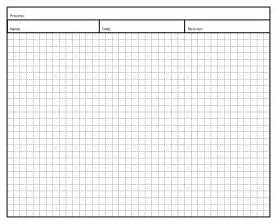 Grid Graph Paper Template