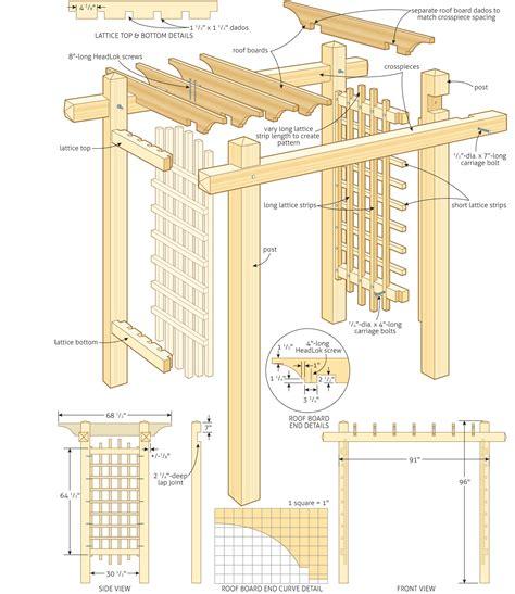 woodworking plans garden arbor