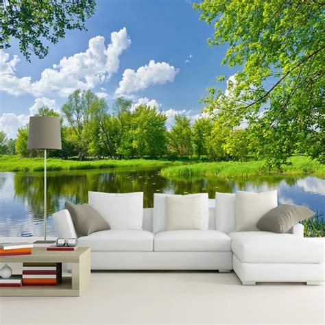 3d Scenery Wallpaper by Style 3d Nature Scenery Wallpaper For Elder S Room