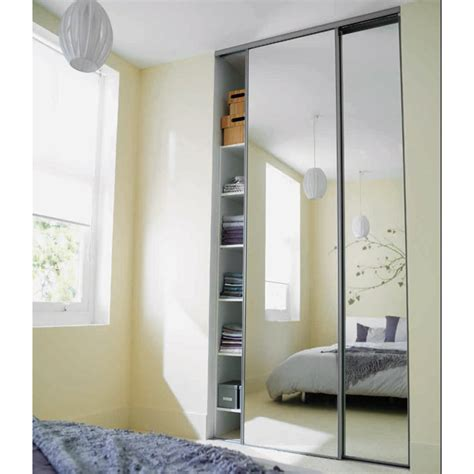 miroir a coller sur porte de placard portes de placard coulissantes miroir argent 250 x 120 castorama