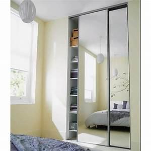 Miroir Adhésif Pour Porte : porte de placard coulissante miroir patcha ~ Melissatoandfro.com Idées de Décoration