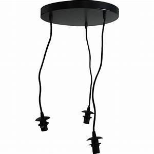 Abat Jour Suspension : suspension basique 3 lampes sans abat jour ~ Teatrodelosmanantiales.com Idées de Décoration